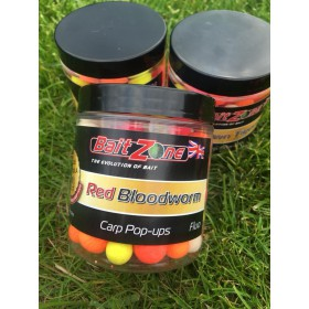 BaitZone Pop-Ups Fluo Red Blodworm