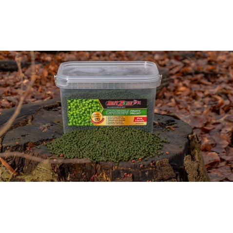BaitZone Pellet Green Fruity - Zielony Owocowy 3L
